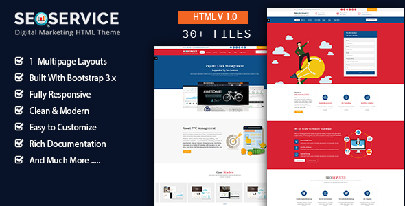 ThemeForest SeoService Seo & Digital Marketing Company HTML5 Template 20564071