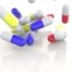 Falling Colorful Drug Capsules or Pills