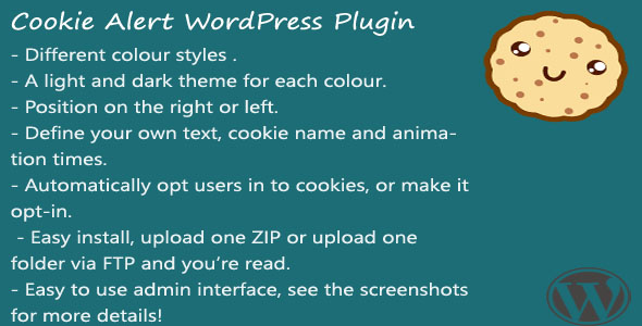Cookie Alert WordPress plugin - CodeCanyon Item for Sale