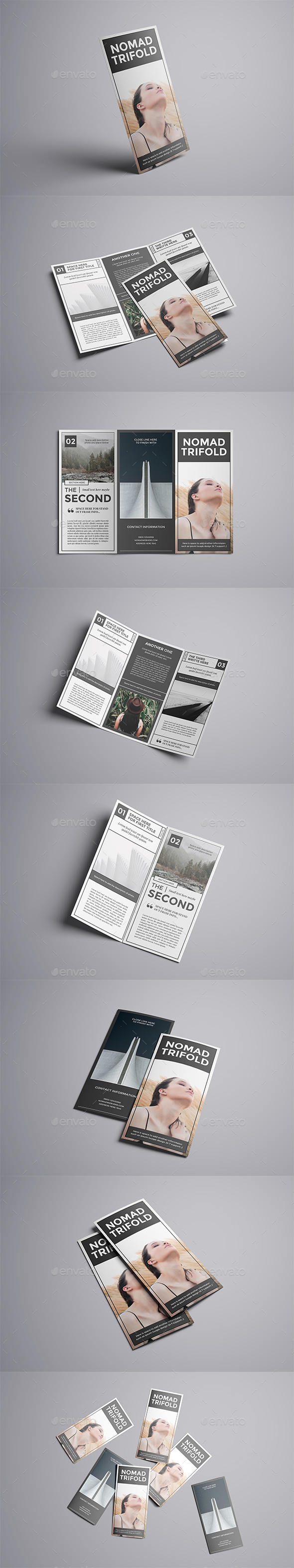 GraphicRiver Nomad A4 Trifold Brochure 20682068