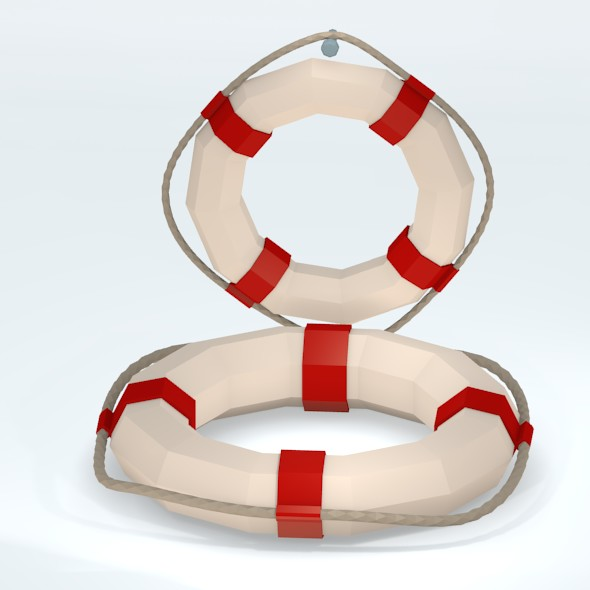 3DOcean Low Poly Lifebuoy 20682076