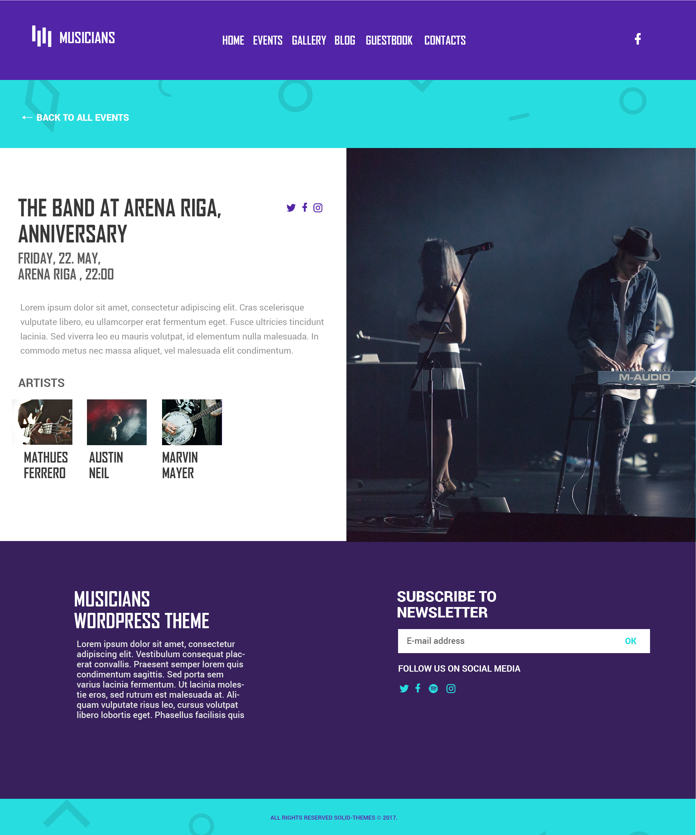 Musicians - Premium Music | Event HTML Template by solid-themes ...