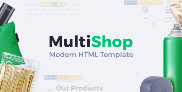 Image of MultiShop - Universal HTML Shop Template