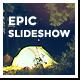 Epic Glitch Parallax Slideshow