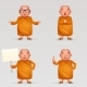 Buddhist Monk Traditional Asian Buddhist - GraphicRiver Item for Sale