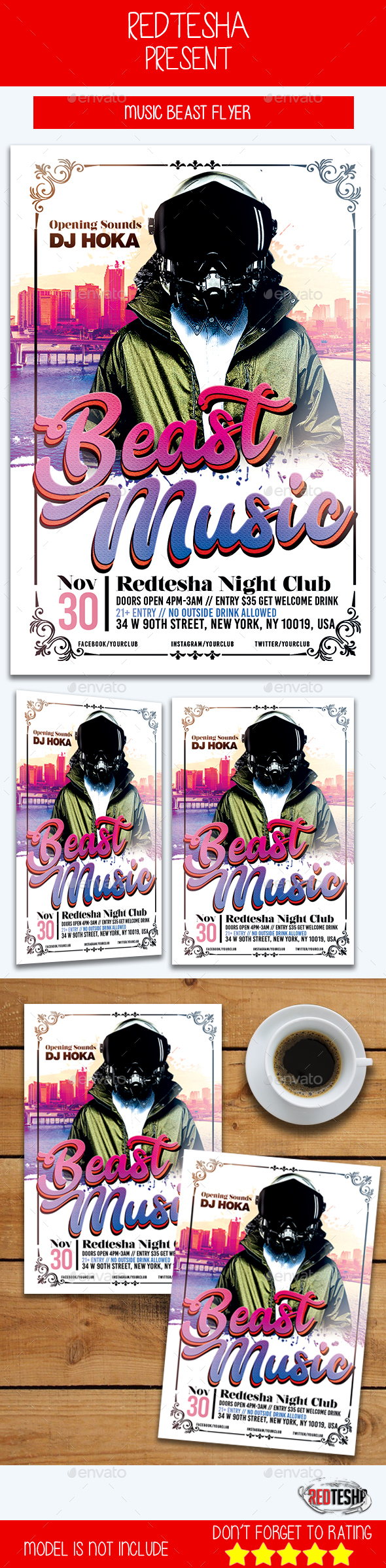 Music Beast Flyer - Events Flyers