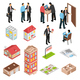 Real Estate Agency Isometric Set