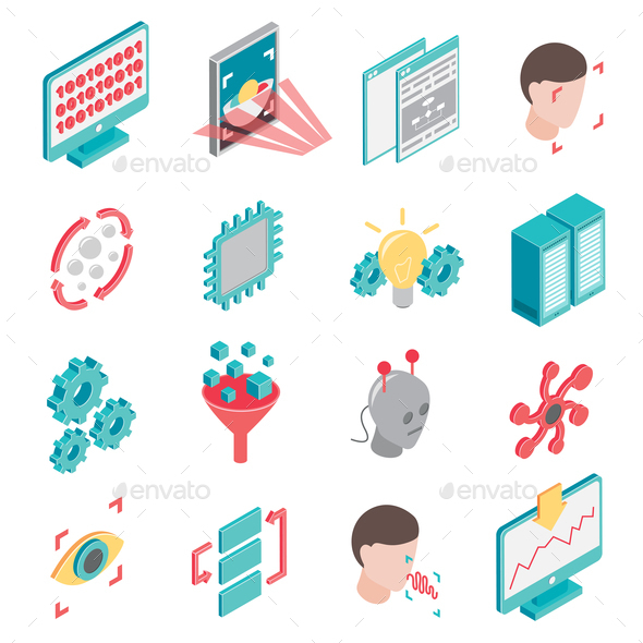 GraphicRiver Neural Network Icon Set 20682314