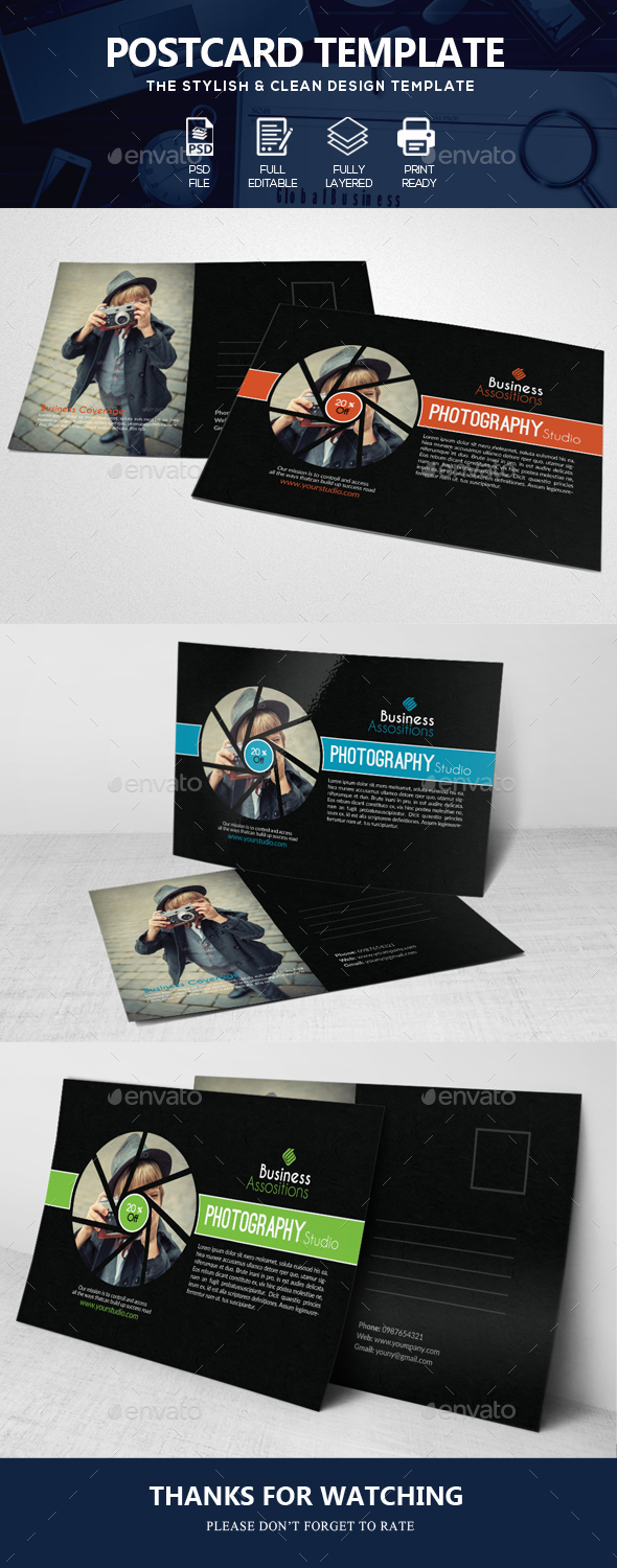 Photography Business Post Cards - Cards & Invites Print Templates