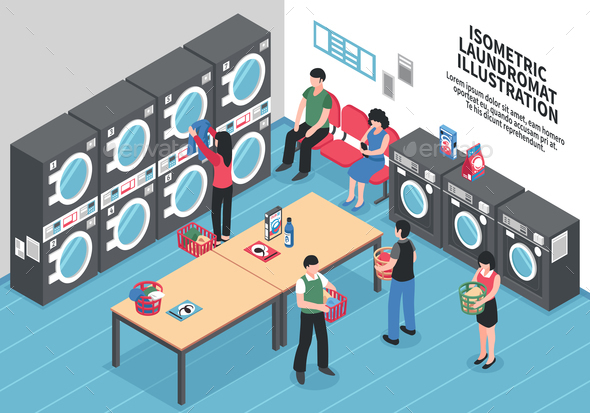 GraphicRiver Laundry Isometric Concept 20682329