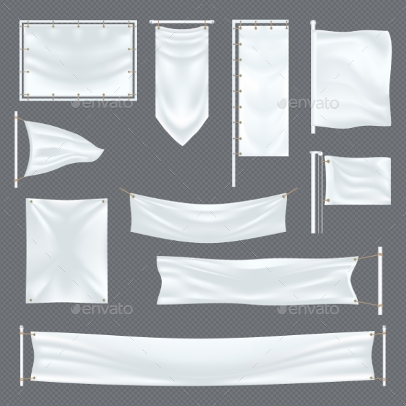 Empty or Blank Fabric Template on Transparent - Miscellaneous Vectors