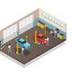 Car Maintenance Service Isometric Interior
