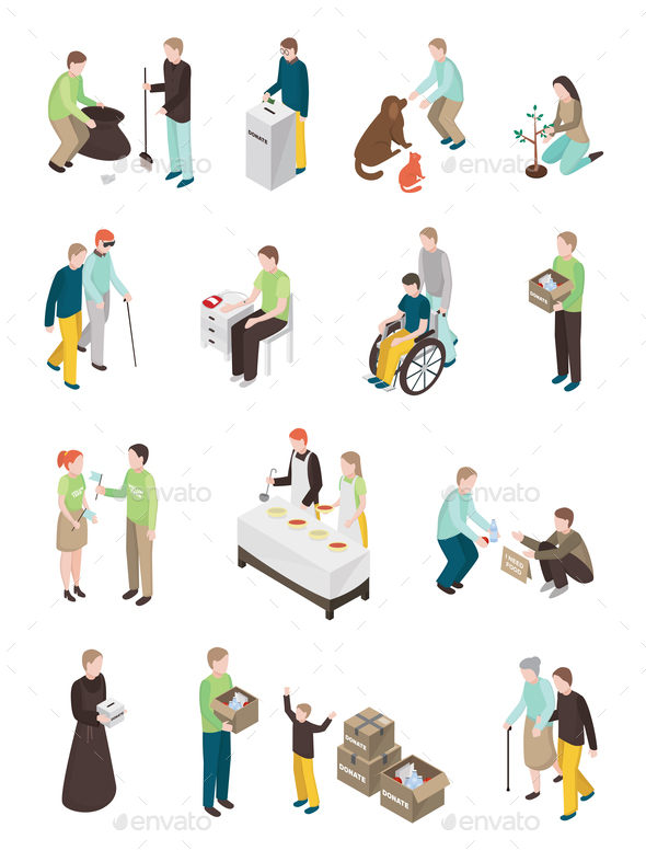 GraphicRiver Humanitarian Charity Characters Collection 20682361