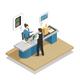 Payment Methods Cash Isometric Composition