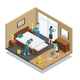 House Cleaning Isometric Composition