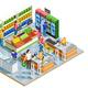 People Shopping Isometric Illustration