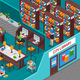 City Library Isometric Illustration - GraphicRiver Item for Sale