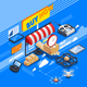 Delivery By Drones Isometric Composition - GraphicRiver Item for Sale