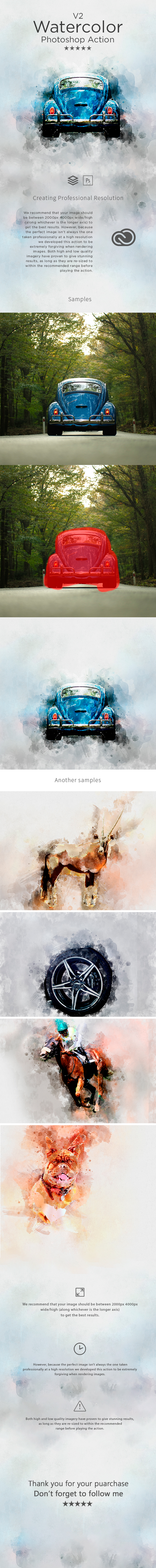 GraphicRiver Watercolor V.2 Photoshop Action 20682494