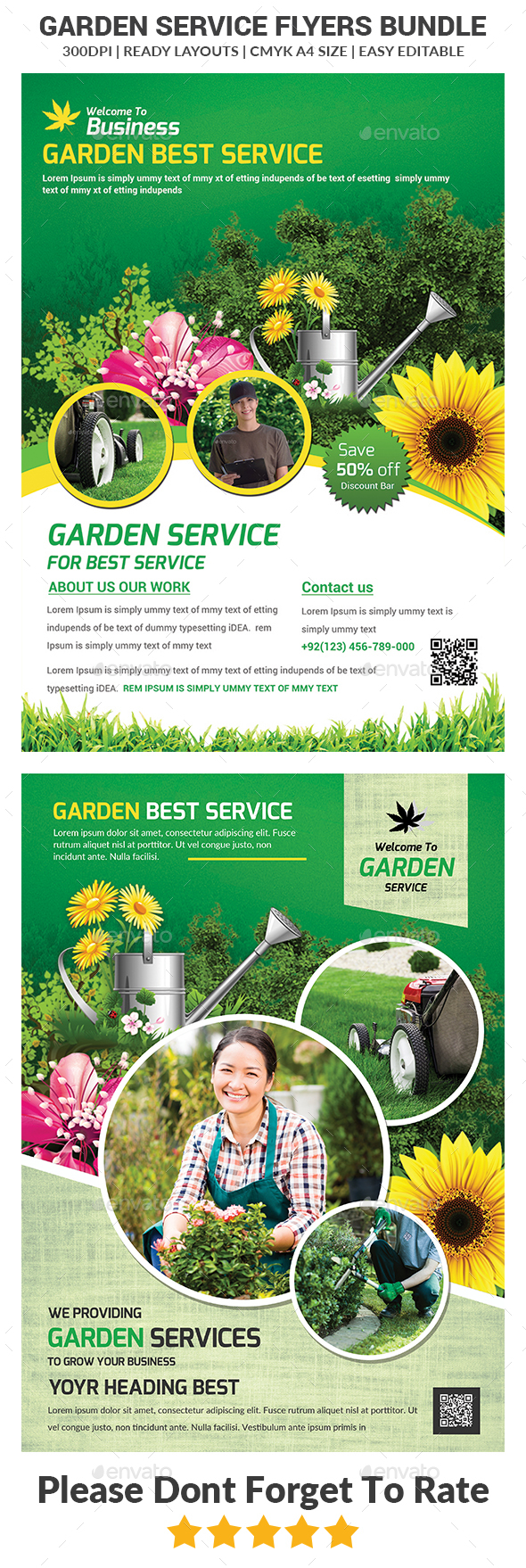 Garden Services Flyers Bundle - Corporate Flyers