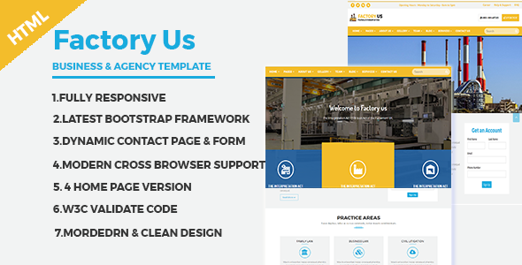 ThemeForest Factory Industrial Business HTML5 Template 20566327