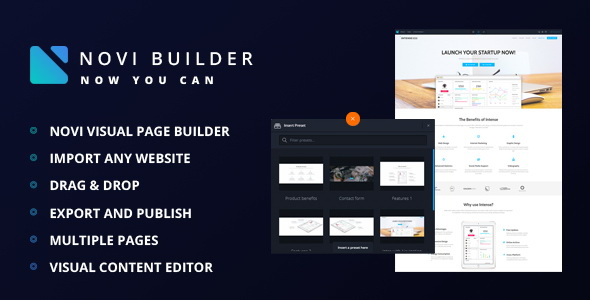 Novi - Visual Page Builder - CodeCanyon Item for Sale