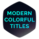 Modern Colorful Titles - VideoHive Item for Sale