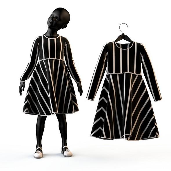 3DOcean Child Baby girl dress 20682627
