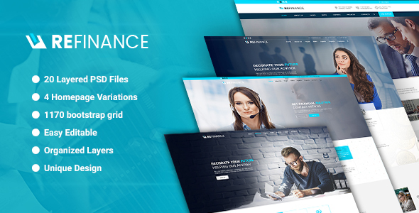 Refinance - Finance / Tax / Corporate PSD Template - Business Corporate