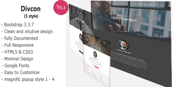 Divcon – Personal Responsive Template - Personal Site Templates