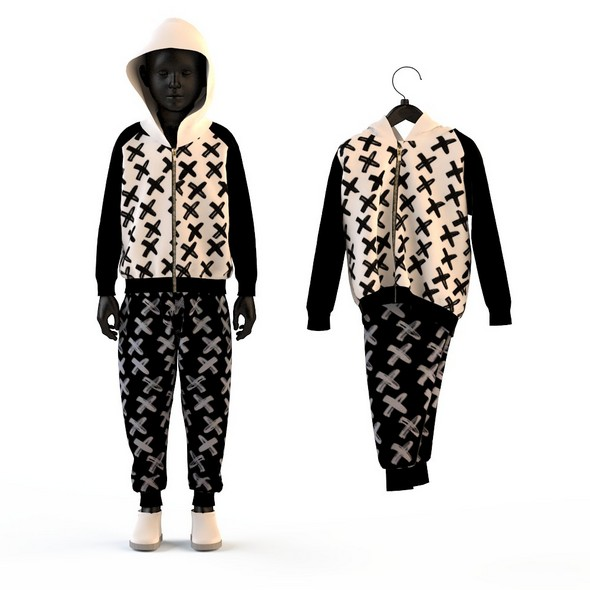 Child Baby boy knitted suit - 3DOcean Item for Sale