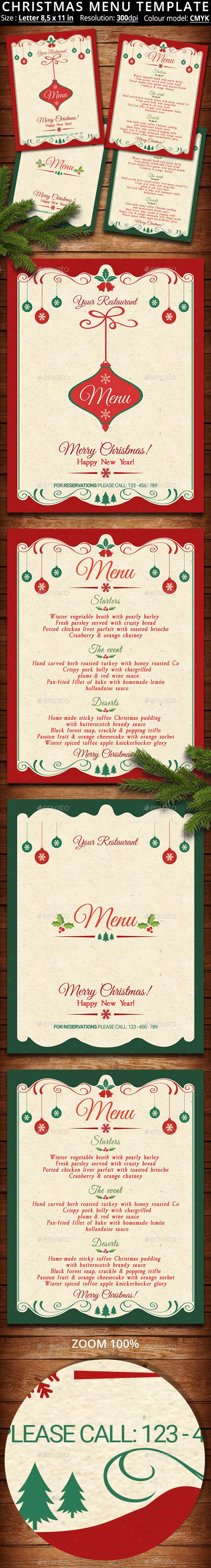 Christmas Menu Template - Restaurant Flyers