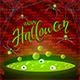 Brick Wall and Halloween Cauldron with Green Potion and Spiders - GraphicRiver Item for Sale