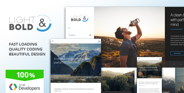 Light & Bold - Speed-Focused WordPress Theme