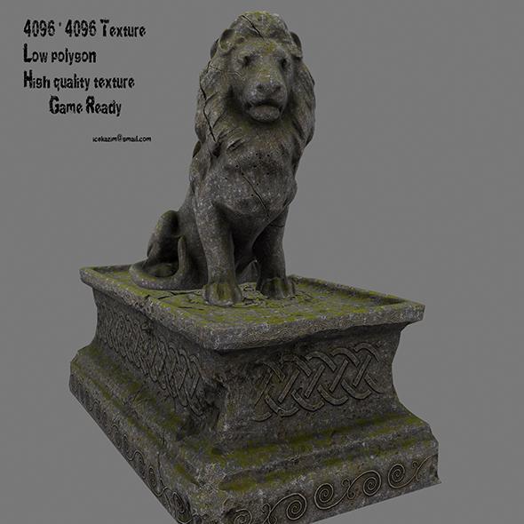 Lion Statue 18 - 3DOcean Item for Sale