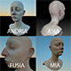 3D female head COLLECTION (Mia and her Sisters) - 3DOcean Item for Sale