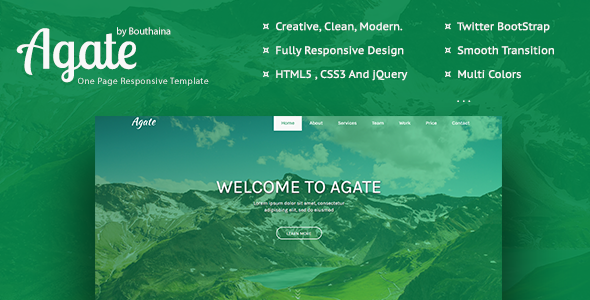 Agate - Multipurpose Responsive Template - Creative Site Templates