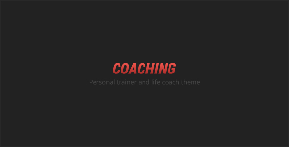 COACHING - Personal Trainer Template - Health & Beauty Retail