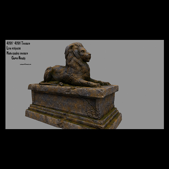 Lion Statue 22 - 3DOcean Item for Sale
