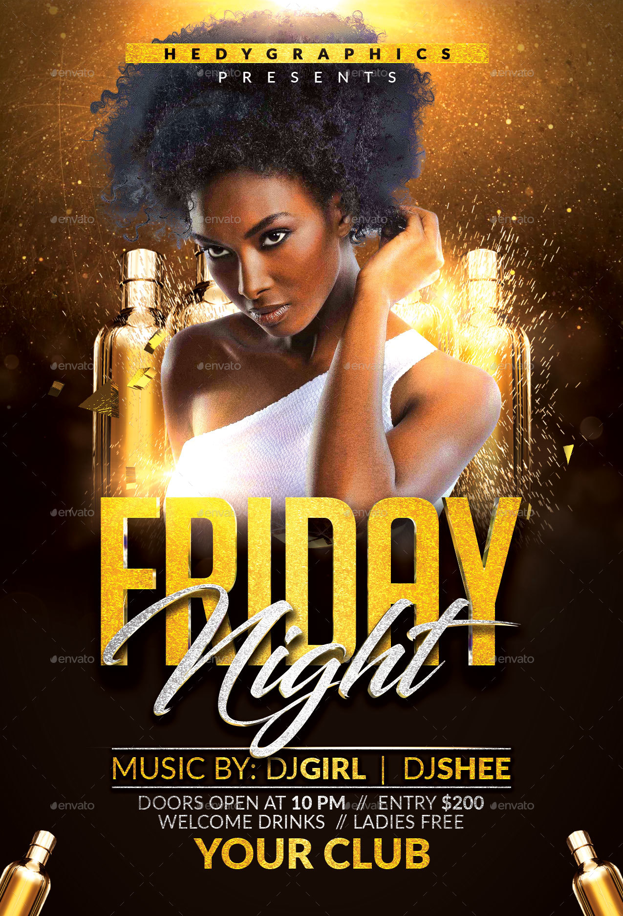 friday night flyer by hedygraphics