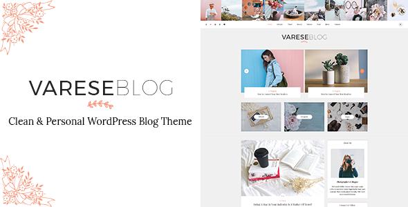 ThemeForest Varese Clean & Personal WordPress Blog Theme 20575552