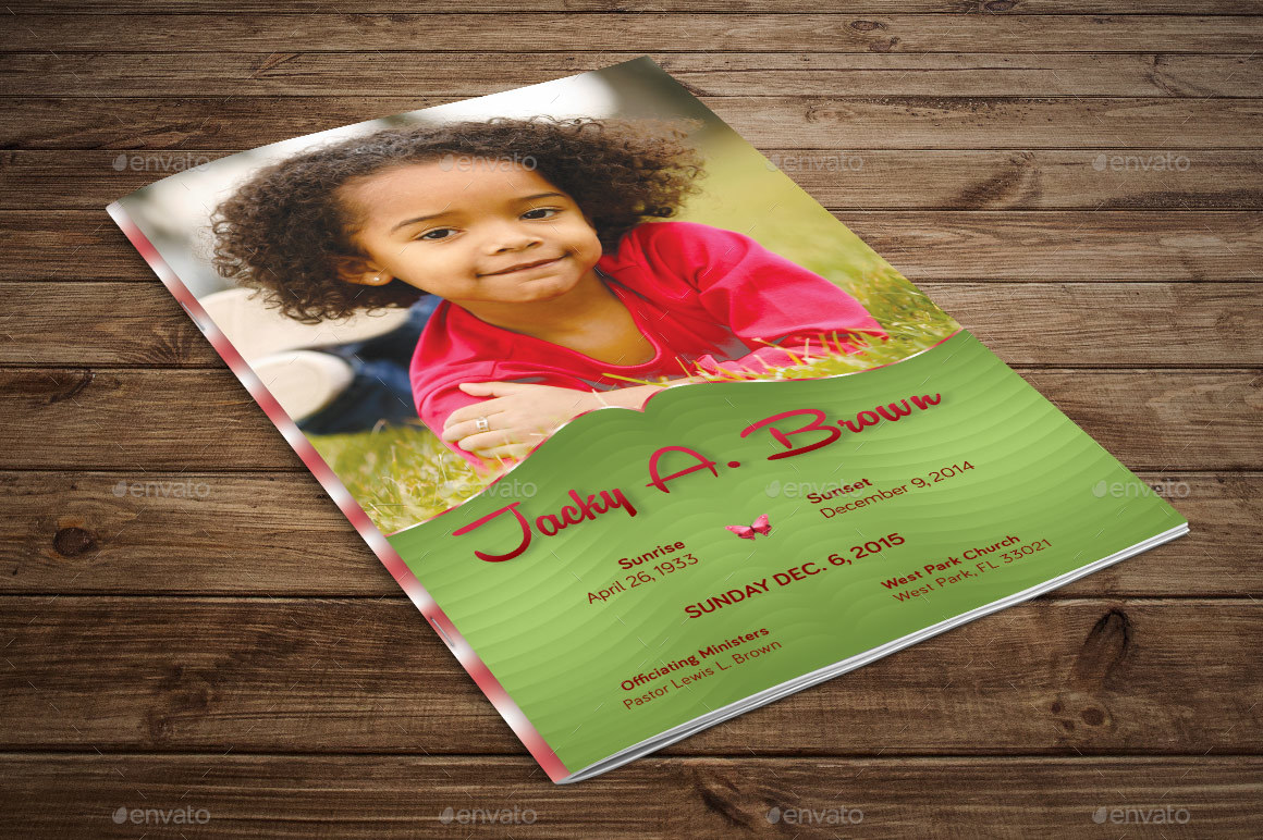 Preview Image Set/Child Funeral Program Preview 1 Preview Image Set/ Child Funeral Program Preview 2 ...