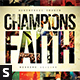 Champions of Faith CD Album Artwork - GraphicRiver Item for Sale