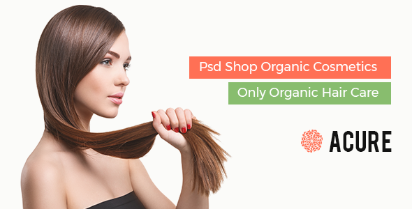 Acure Organics Hair Care, Fashion Shop - Psd Template