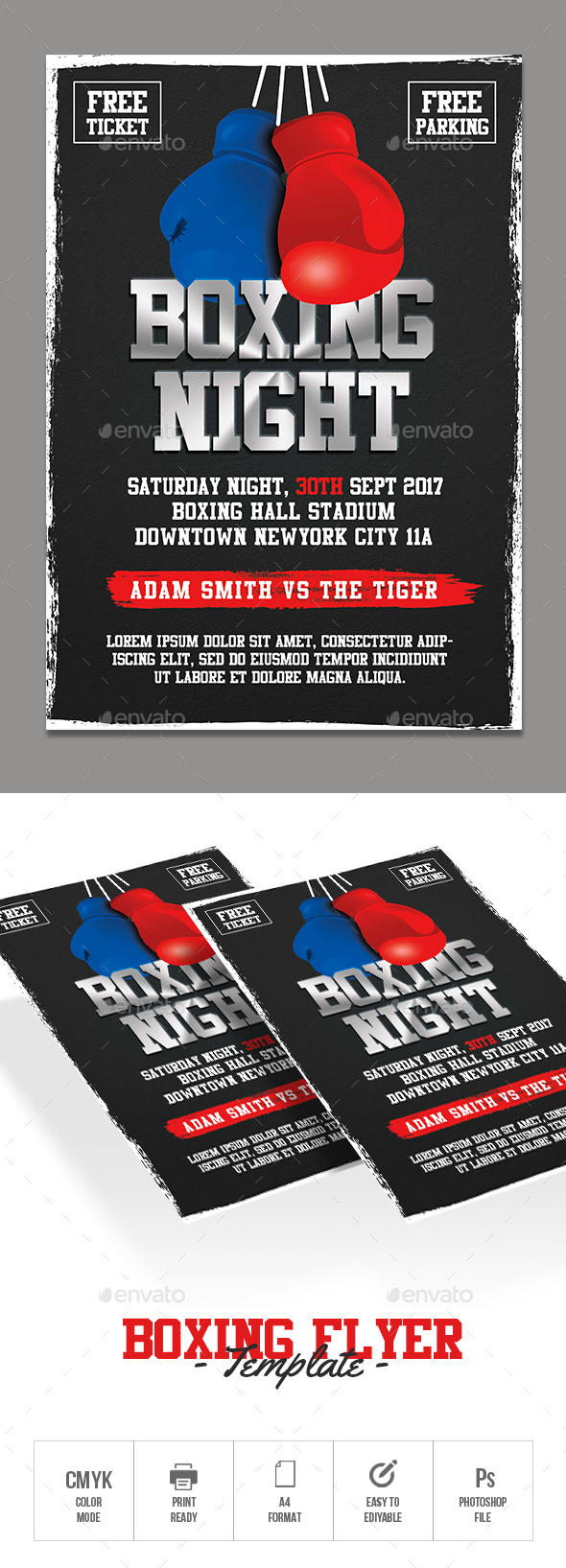 GraphicRiver Boxing Flyer 20683635