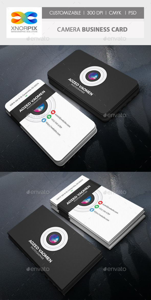 Camera Business Card - Corporate Business Cards