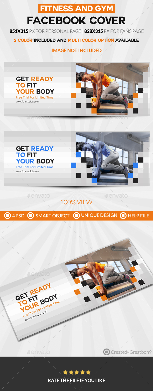 GraphicRiver Fitness Facebook Timeline Cover 20683663