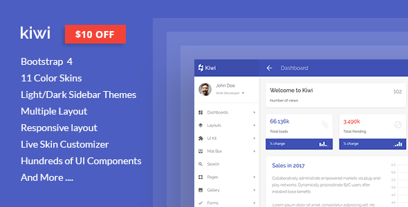 kiwi – Responsive Web App Kit            nulled