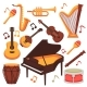 Musical Instruments and Music Notes Vector - GraphicRiver Item for Sale