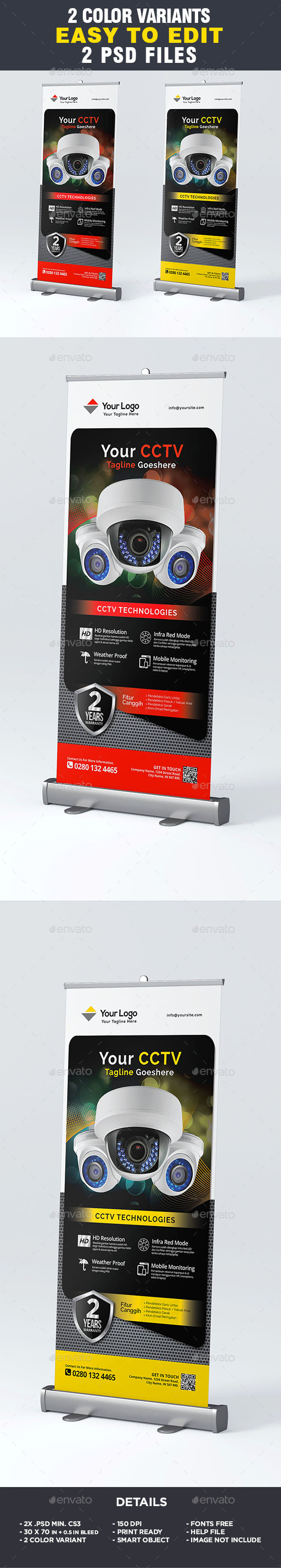 Product Sale Roll-Up Banner - Signage Print Templates